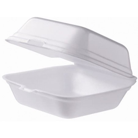 Embalagem Foam Hamburguer Pequena Branco (125 Uds)
