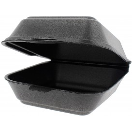 Embalagem Foam Hamburguer Pequena Preto (500 Uds)