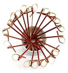 Pick Bambu Decorado Laço Vermelho 90mm (5000 Unidades)