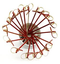 Pick Bambu Decorado Laço Vermelho 120mm (5000 Unidades)