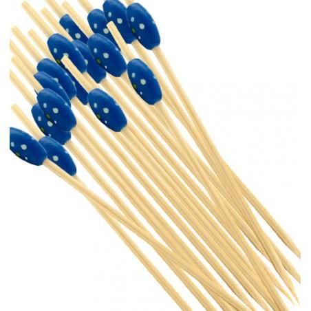 "Pick Bambu ""Punteado"" Azul 120mm (200 Unidades)"