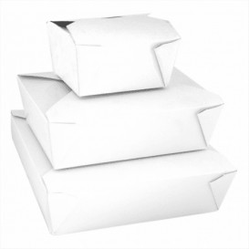 Caixa Cartão TakeAway Branco 11,3x9x6,4cm 780ml (450 Uds)