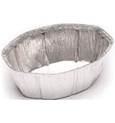 Embalagem Aluminio Oval Frango 2400ml (500 Uds)