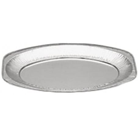 Bandeja Oval de Aluminio 870ml (100 Unidades)