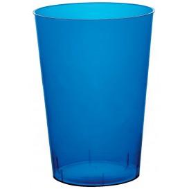Copo Plastico Moon Cristal Azul Transp. PS 230ml (50 Uds)