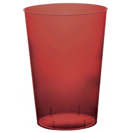 Copo Plastico Moon Cristal Bordeaux Transp. PS 230ml (35 Uds)