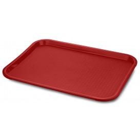 Bandeja Plastico Rigido Vermelho 30,4x41,4cm (24 Uds)