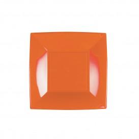 Prato Plastico Raso Laranja Nice PP 180mm (25 Uds)