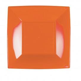 Prato Plastico Raso Laranja Nice PP 230mm (25 Uds)