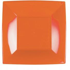 Prato Plastico Raso Laranja Nice PP 290mm (12 Uds)