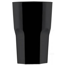 Copo Plastico Preto SAN Ø85mm 400ml (75 Uds)