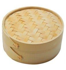Panela Cozimento a Vapor Bambu com Tampa Ø8x6cm (10 Uds)