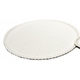 Prato Pizza de Cartão Branco Ø33cm (50 Uds)