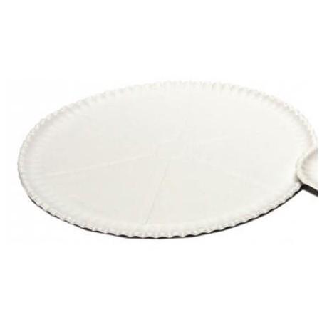 Prato Pizza de Cartão Branco Ø33cm (100 Uds)