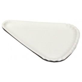 Prato Pizza de Cartão Branco 1/8 24x18cm (100 Uds)
