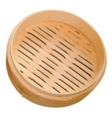 """Panela Cozimento a Vapor Bambú """"Maxi"""" Ø20x6cm (32 Uds)"""