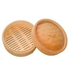 Panela Cozimento a Vapor Bambu com Tampa Ø8x6cm (200 Uds)