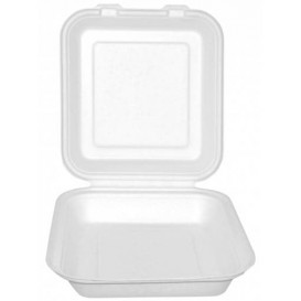 Embalagem Cana-de-açúcar Branco 20x20x7,5cm (50 Uds)