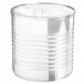Lata de conserva Plastico Trans. 220ml Ø7,4x7cm (20 Uds)