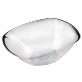 "Tigela Plastico PS Cristal ""Square"" 3000ml Ø27,7cm (3 Uds)"
