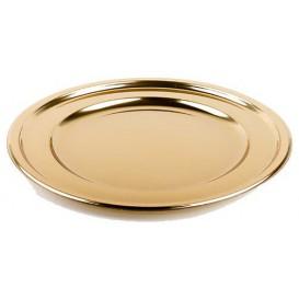 BaixoPrato Plastico Redondo Ouro 30 cm (5 Uds)