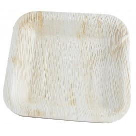 Prato quadrado folha de palmeira 20x20cm (25 Unidades)