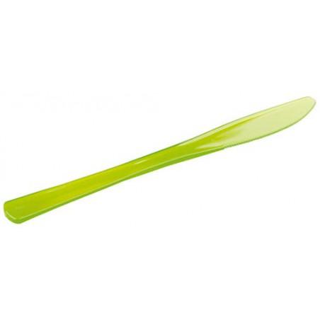 Faca de Plastico Premium Verde 200mm (10 Uds)