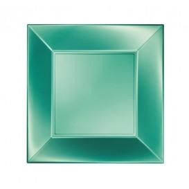 Prato Plastico Raso Verde Nice Pearl PP 230mm (25 Uds)