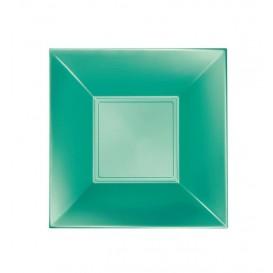Prato Plastico Fundo Verde Nice Pearl PP 180mm (300 Uds)