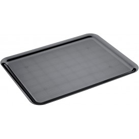 Bandeja Plastico Tray Preto 37x50cm (24 Unidades)
