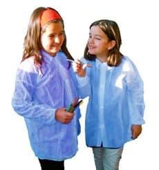 Bata Criança TST PP Azul Velcro e Sem Bolsos (50 Uds)