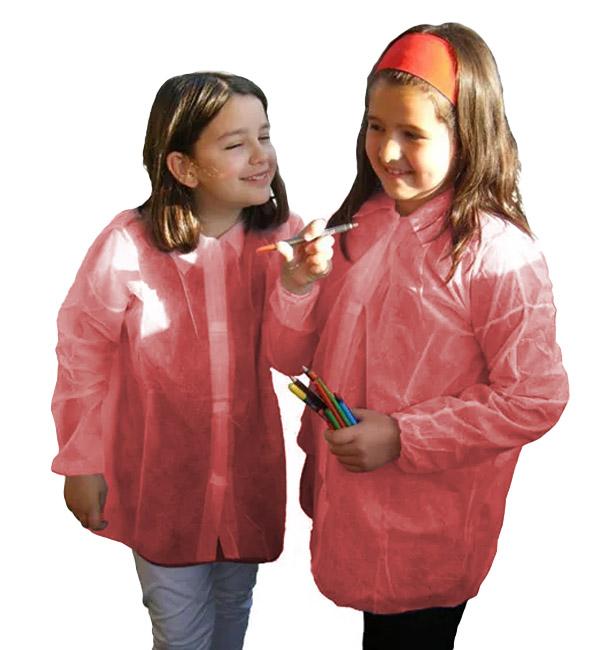 Bata Criança TST PP Vermelho Velcro e Sem Bolsos (1 Ud)