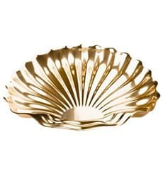 Bandeja Plastico Luxo Concha Ouro 34x30 cm (5 Uds)