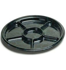 Bandeja Plastico 6 Comprt.Marmore 30 cm (5 Uds)