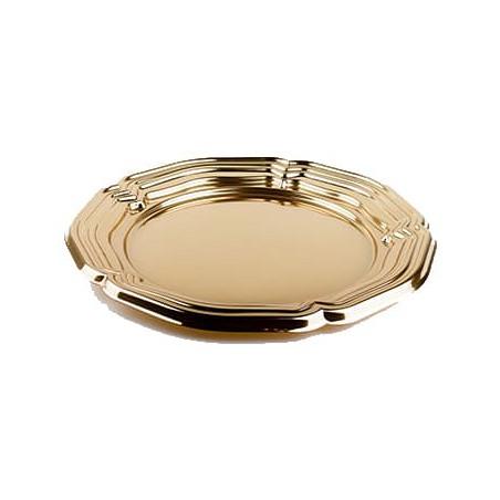 Bandeja Plastico Luxo Redonda Ouro 34 cm (5 Uds)