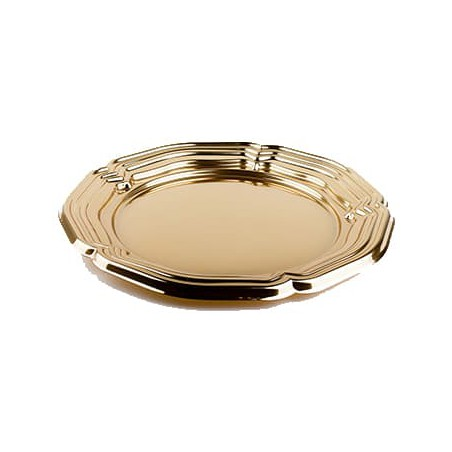 Bandeja Plastico Luxo Redonda Ouro 46 cm (50 Uds)
