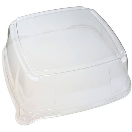 Tampa Plastico Trasparente Bandeja 27x27x8cm (5 Uds)