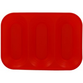 """Bandeja Plastico """"X-Table"""" 3C Vermelho PP 330x230mm (2 Unidades)"""