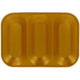 "Bandeja Plastico PP ""X-Table"" 3C Ouro 330x230mm (30 Unidades)"