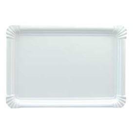 Bandeja de Cartão Rectangular Branca 18x24 cm (600 Uds)
