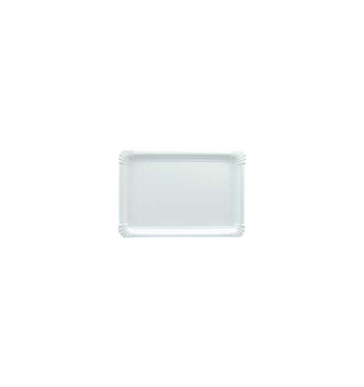 Bandeja de Cartão Rectangular Branca 22x28 cm (600 Uds)