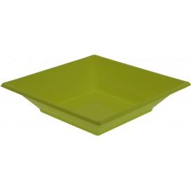 Prato Fundo Quadrado Plástico Pistache 170mm (300 Uds)