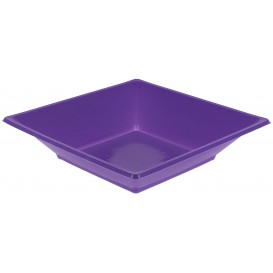 Prato Fundo Quadrado Plástico Lilás 170mm (300 Uds)