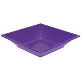 Prato Fundo Quadrado Plástico Lilás 170mm (25 Uds)