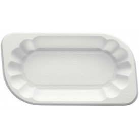 Bandeja Plastico PS Branco 250ml (1500 Uds)
