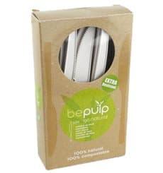 Faca Biodegradaveis CPLA Branco 160mm em caixa (50 Uds)