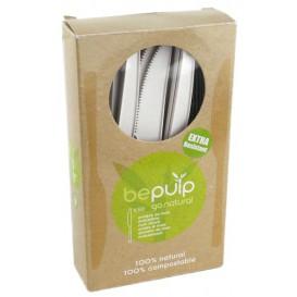 Faca Biodegradaveis CPLA Branco 160mm em caixa (500 Uds)