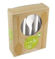 Colher Biodegradaveis CPLA Branco 155mm em caixa (500 Uds)