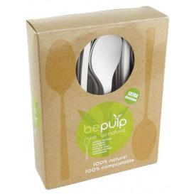 Colher Biodegradaveis CPLA Branco 120mm em caixa (500 Uds)
