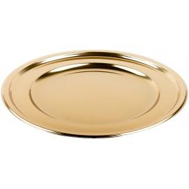Prato Plastico PET Redondo Ouro Ø23cm (6 Uds)